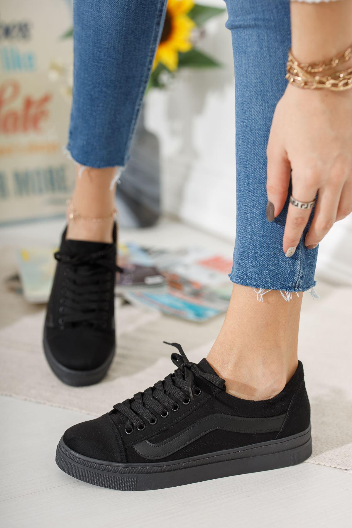 Siyah Günlük Spor Ayakkabı