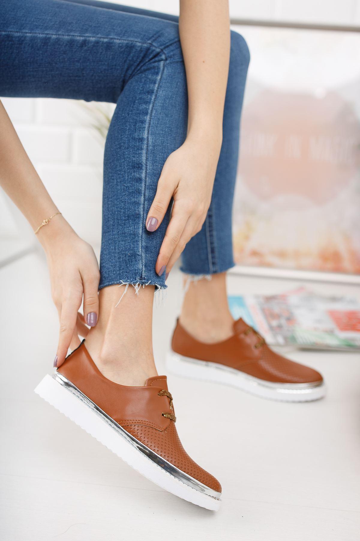 Taba Deri Günlük Ayakkabı
