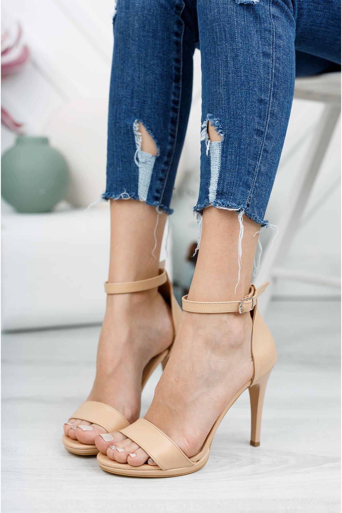 Nude Cilt İnce Topuklu Ayakkabı