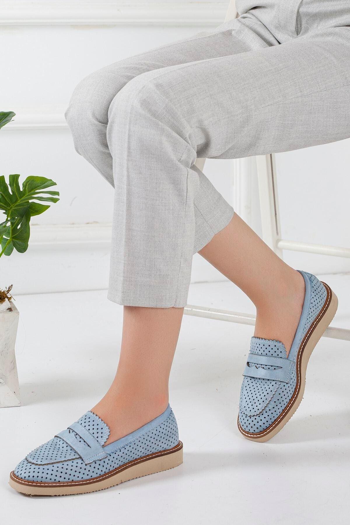 Bebe Mavi Kadın Loafer Günlük Ayakkabı